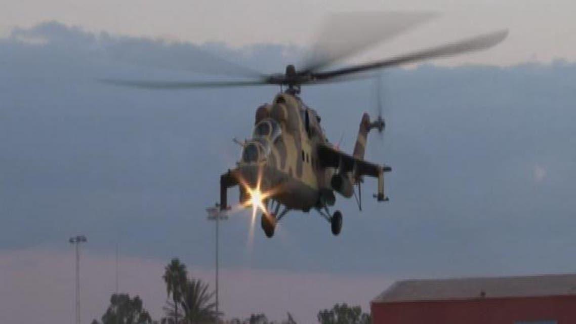 THUMBNAIL_ العربية ترصد قصف الطيران الليبي للمتطرفين في بنغازي