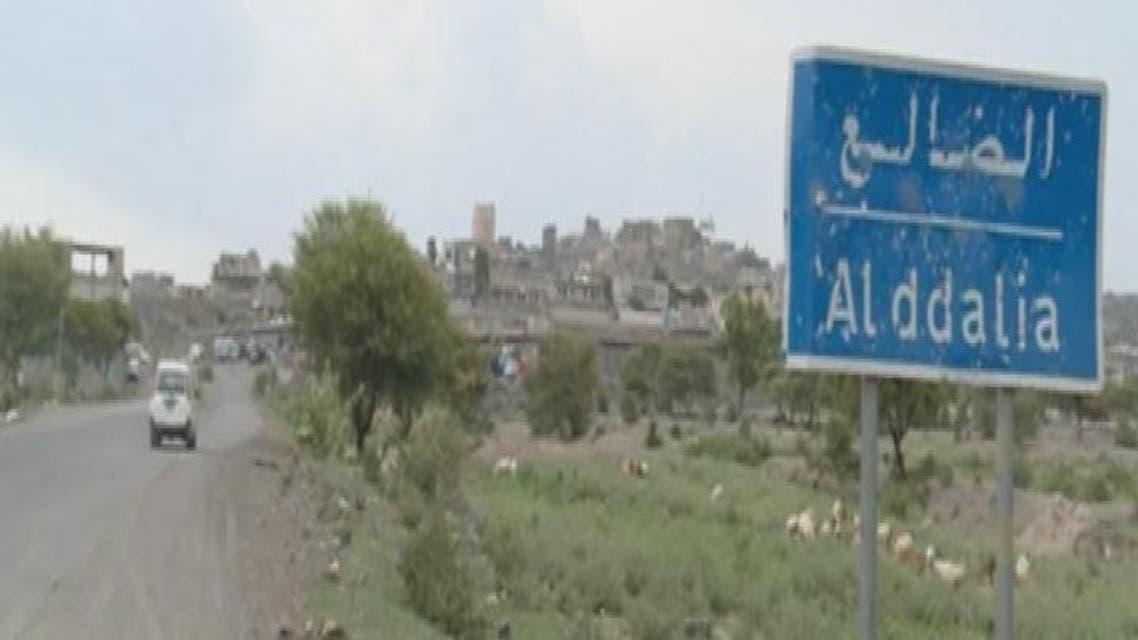 THUMBNAIL_ المقاومة الشعبية تستعيد مدينة دمت شمال محافظة الضالع