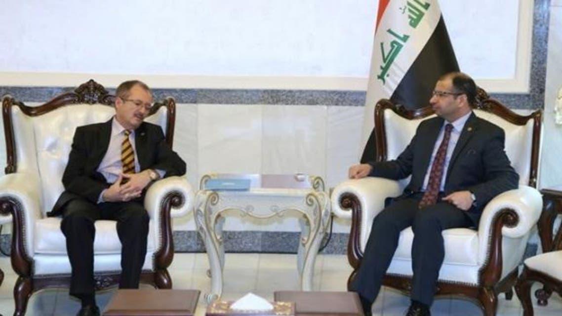 الجبوري مع نائب رئيس البعثة الأممية في العراق