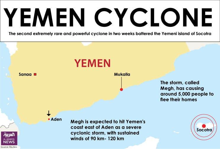 Infographic: Yemen cyclone
