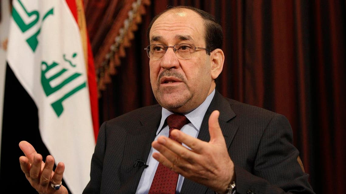 Iraq's former Prime Minister Nouri al-Maliki speaks during an interview with The Associated Press in Baghdad, Iraq. (File photo: AP)