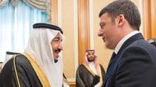 Saudi King meets with Italian PM Matteo Renzi