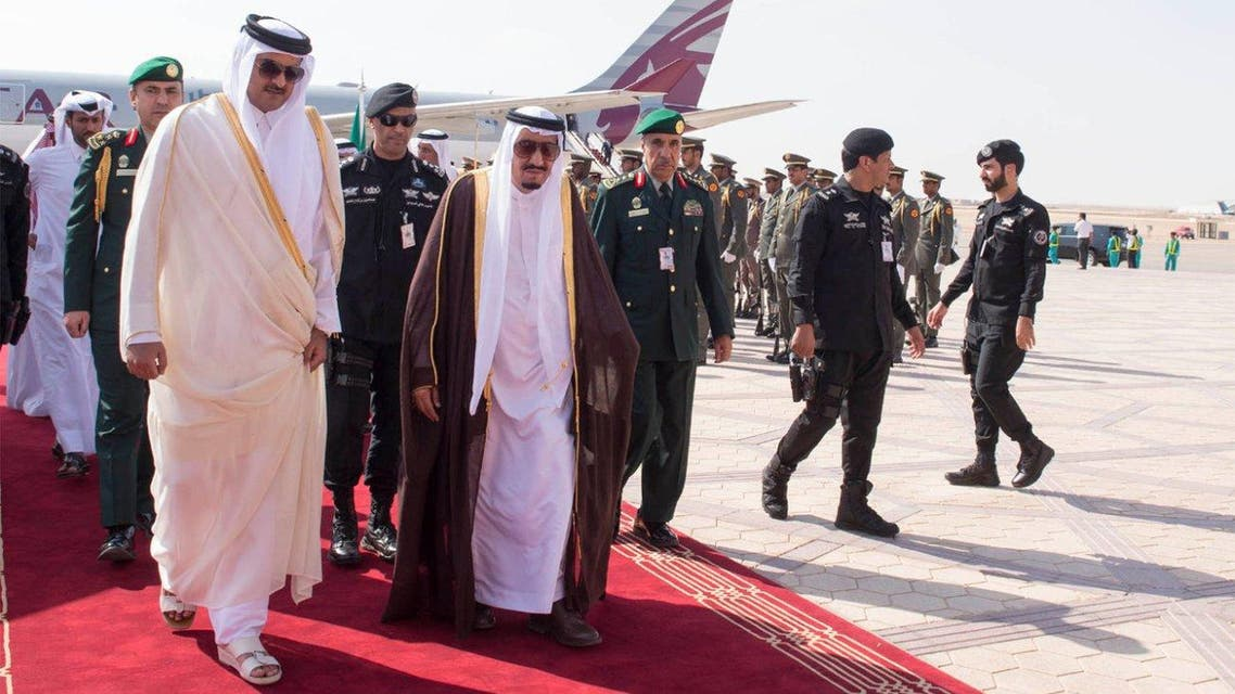 Custodian of the Two Holy Mosques receives leaders of 4th Summit of Arab and South American countries. (SPA)
