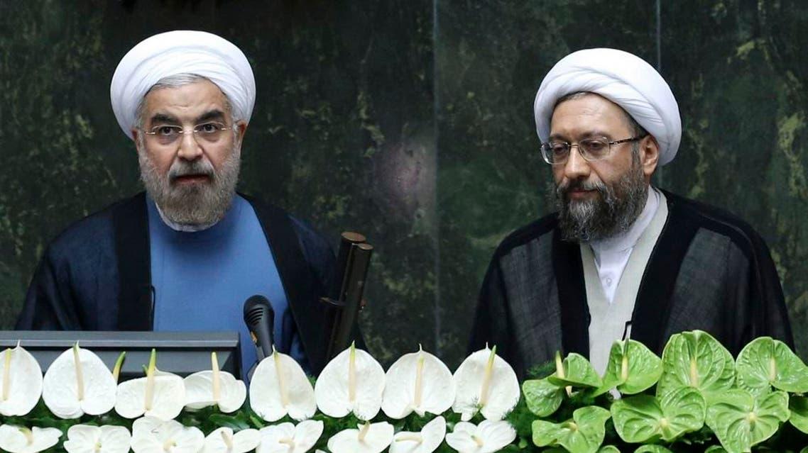 Rouhani & Larijani | AP