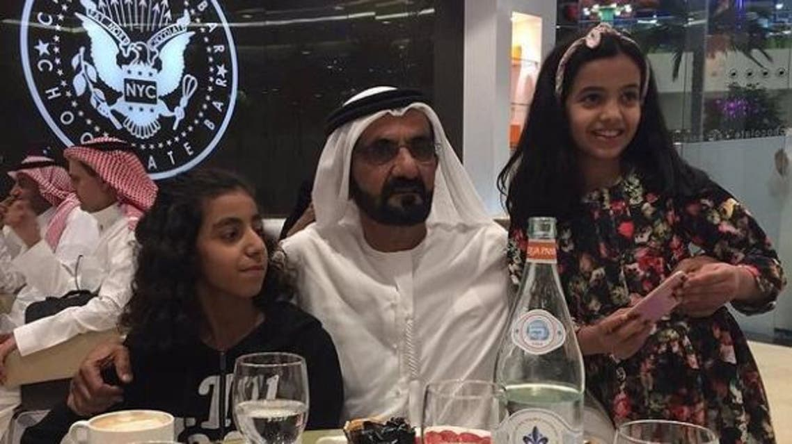 Images of Dubai's ruler quickly went viral on Twitter, with many users taking selfies and photos with Sheikh Mohammed. (via Twitter)
