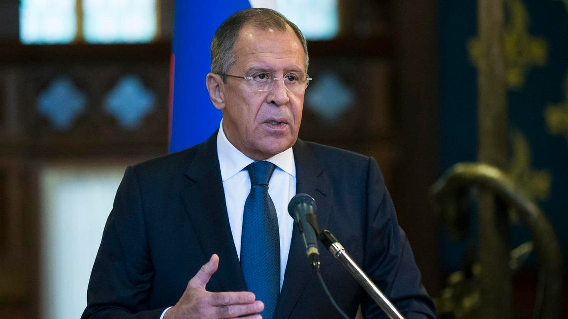 Russian Foreign Minister Sergey Lavrov speaks during his and U.N. Special Envoy for Syria Staffan de Mistura news conference following their talks in Moscow. (File photo: AP)
