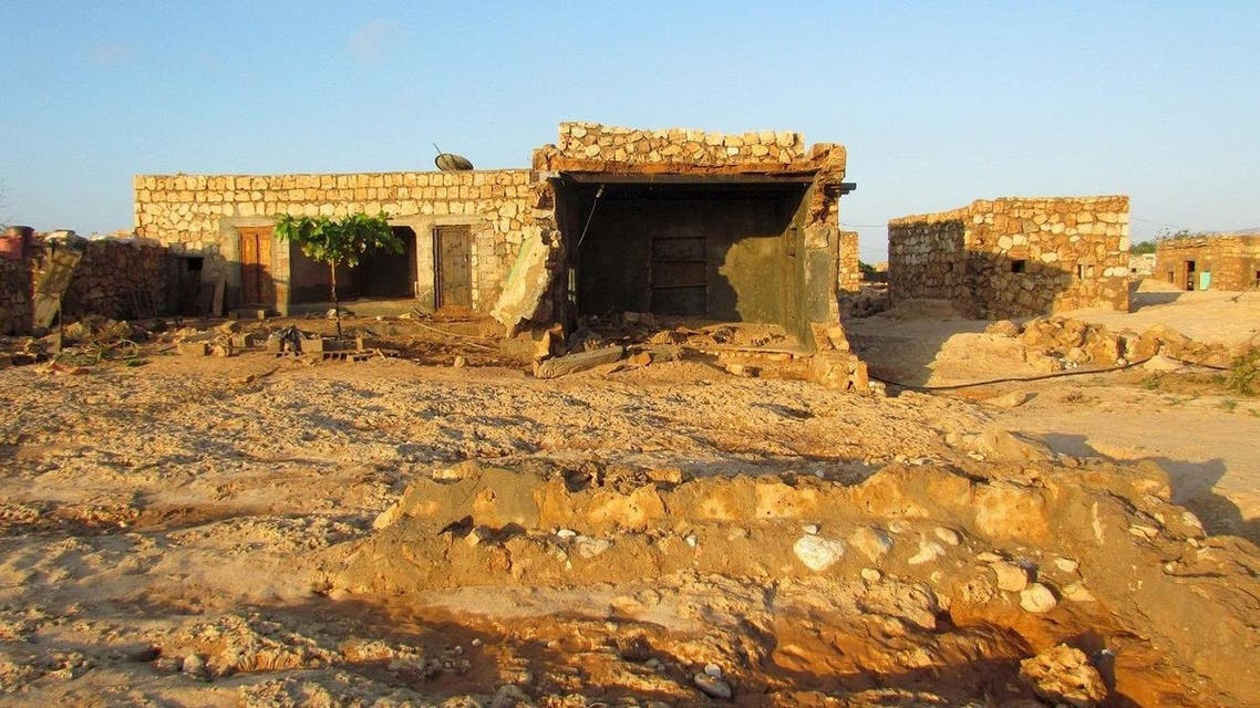 A damaged house is pictured in a village deserted after Cyclone Megh struck it on Yemen's Socotra island. (Reuters)