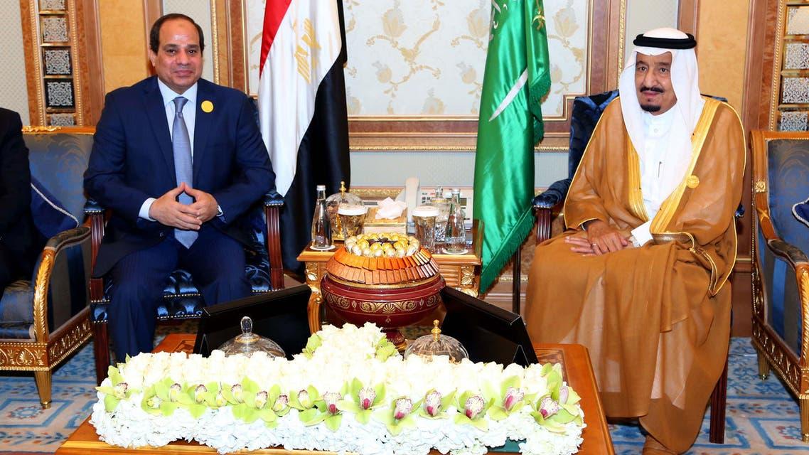لقاء السيسي و الملك سلمان بعد قمة الرياض 2015