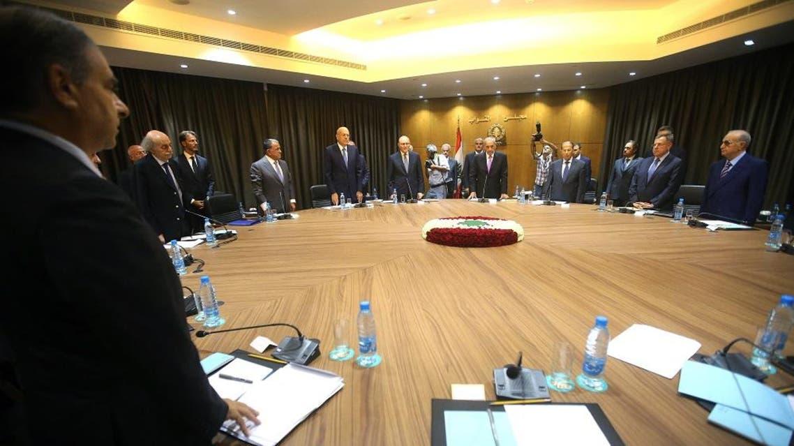 Lebanese political leaders; Mideast Lebanon | AP