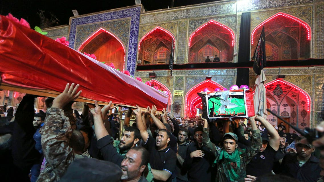 SUICIDE BOMBER KILLS 12 AT SHIITE FUNERAL IN BAGHDAD                               A suicide bomber killed at least 12 people at a Shiite funeral in a mosque in the Iraqi capital on Friday, security and medical officials said.                The attack in the Al-Ashara al-Mubashareen mosque in the Amil area of south Baghdad also wounded at least 32 people, the officials said.                Two officials said the funeral was for a member of the volunteer paramilitary force known as the Popular Mobilisation units.                There was no immediate claim of responsibility for the attack, but suicide bombings are a tactic used exclusively by Sunni extremists in Iraq, including the Islamic State jihadist group, who consider Shiites to be heretics.                The Popular Mobilisation units -- which are dominated by Iranian-backed Shiite militias -- are some of the most effective forces in the battle against IS, which overran large parts of the country last year.                sf/wd/kir                 DATELINE:*Baghdad, Nov 13, 2015 (AFP) -