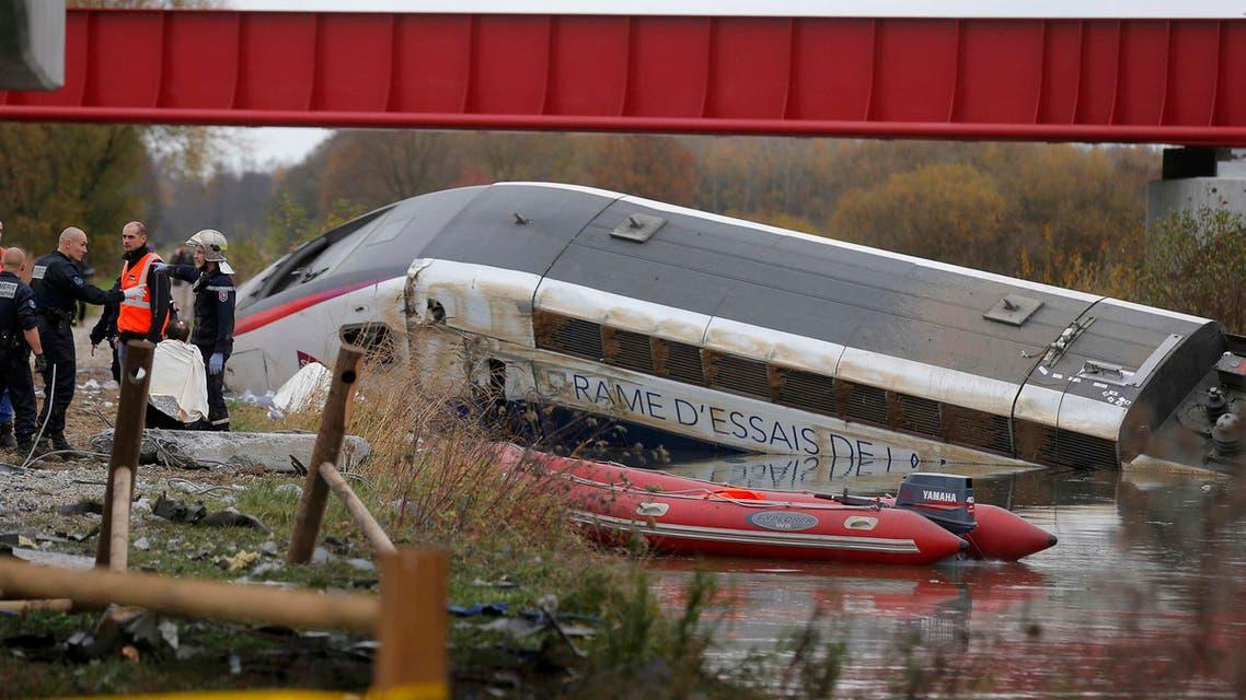 حادث قطار في فرنسا