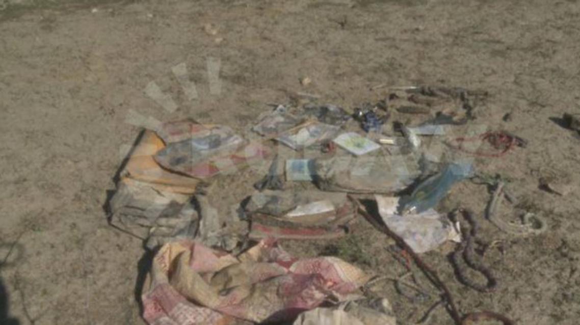 """صور تناقلها بعض النشطاء على """"تويتر"""" على أنها للمقبرة الجماعية في سنجار"""