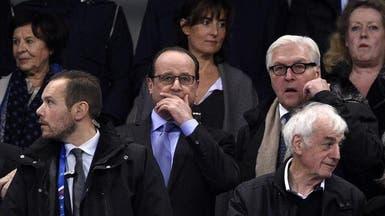 """بالصور.. انفجارات باريس تهز هولاند بـ""""استاد فرنسا"""""""
