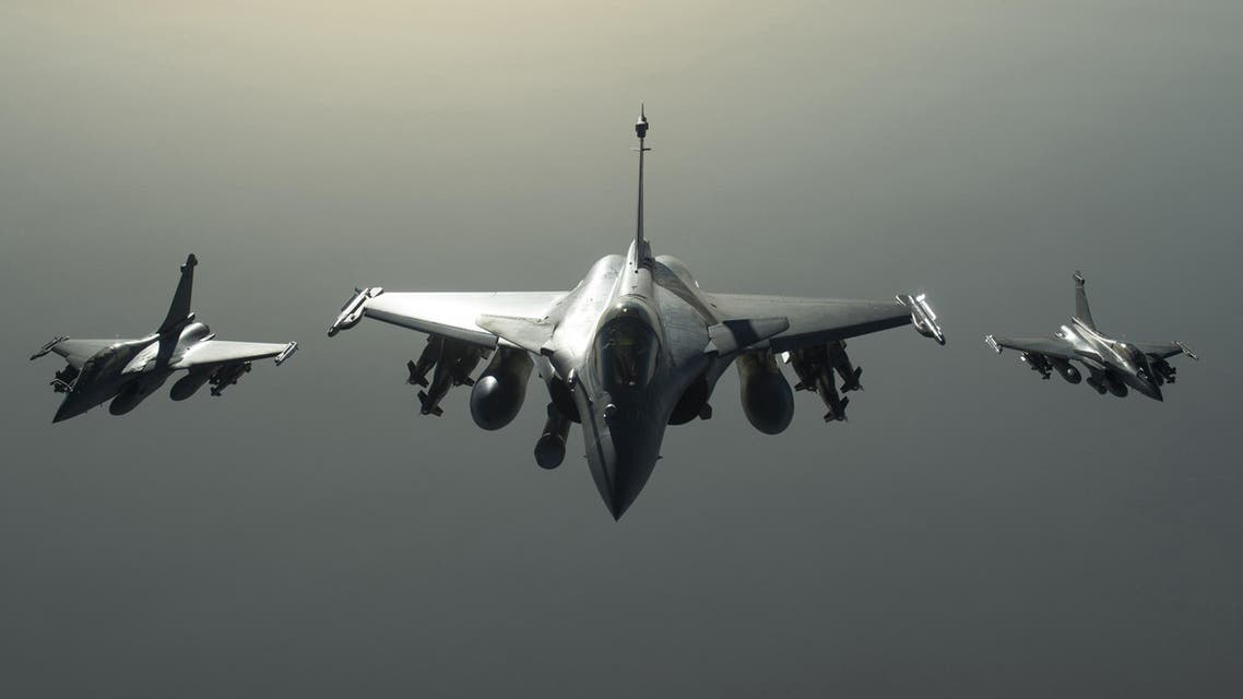 rench army Rafale fighter jets flying towards Syria as part of France's Operation Chammal launched in September 2015. (File photo: AFP)