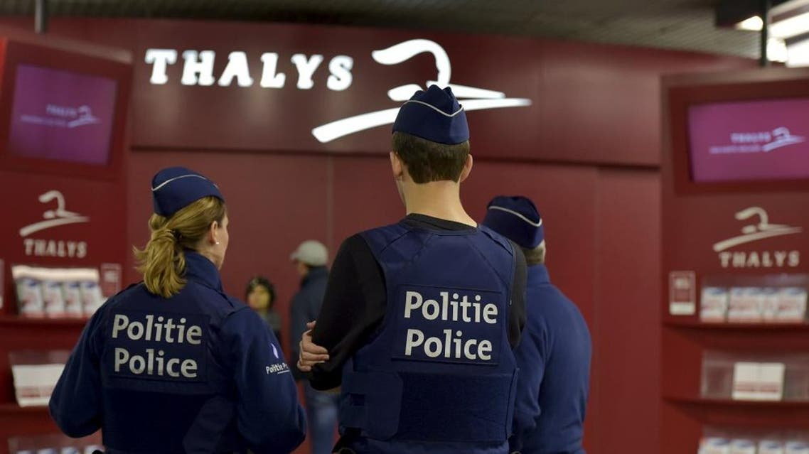 Belgian police officers patrol at Gare du Midi/Zuidstation railway station in Brussels, Belgium, November 14, 2015, after the attacks in Paris on Friday. (Reuters)