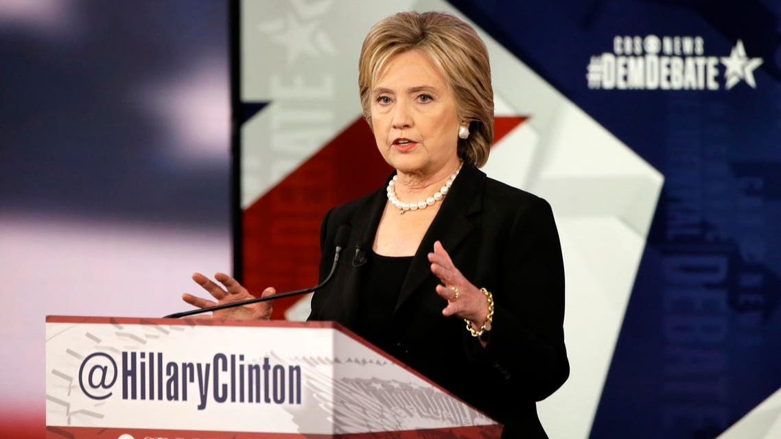 Hillary Rodham Clinton speaks during a Democratic presidential primary debate, Saturday, Nov. 14, 2015