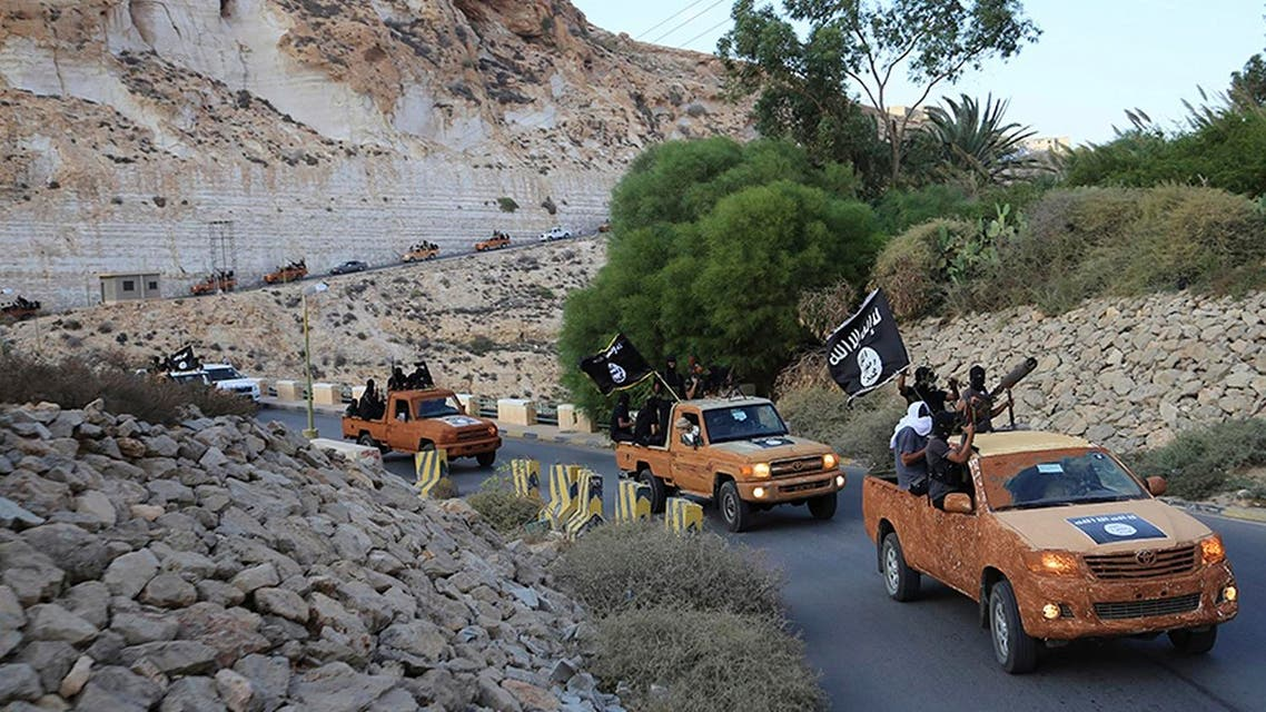 An armed motorcade belonging to members of Derna's Islamic Youth Council, consisting of former members of militias from the town of Derna. (File photo: Reuters)