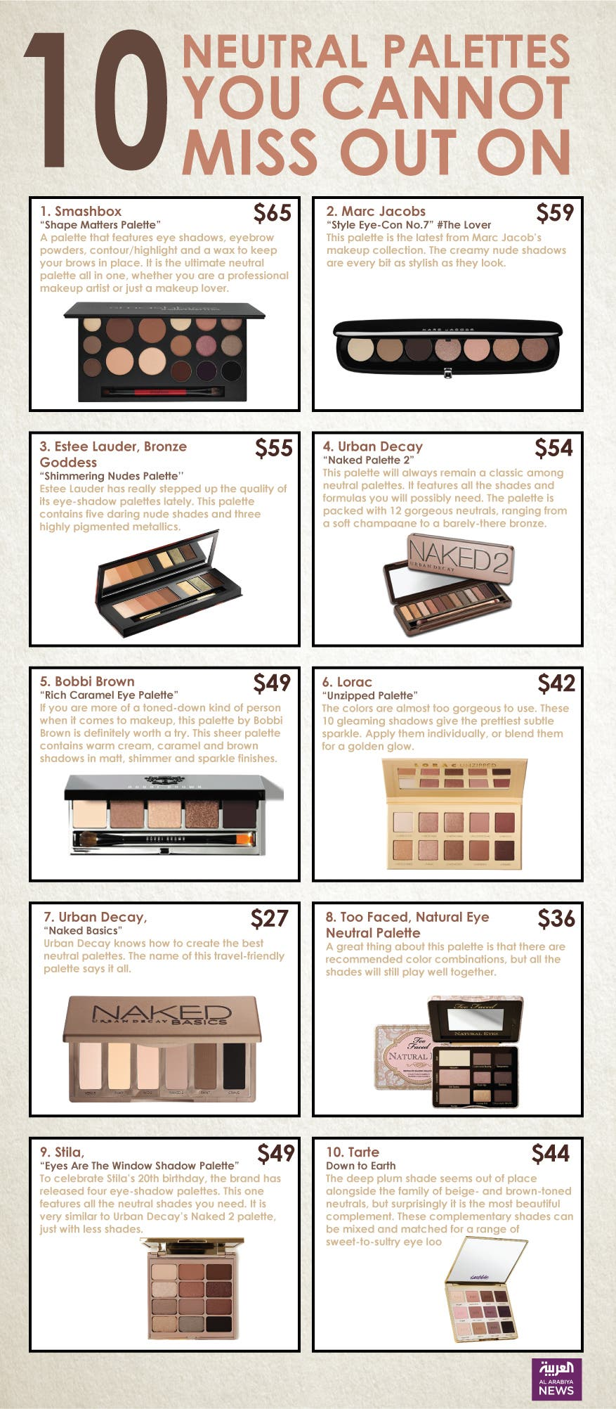 Infographic: 10 neutral palettes you cannot miss out on