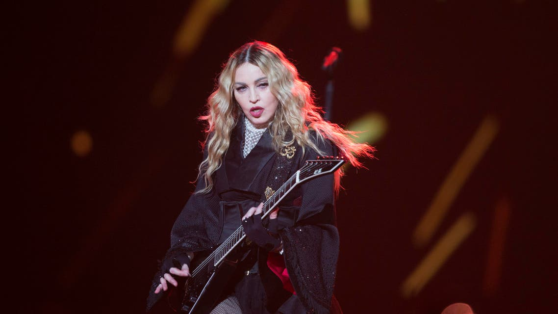 """Madonna performs in concert during her """"Rebel Heart Tour"""" in Berlin, Germany, Tuesday, Nov. 10, 2015. (AP"""