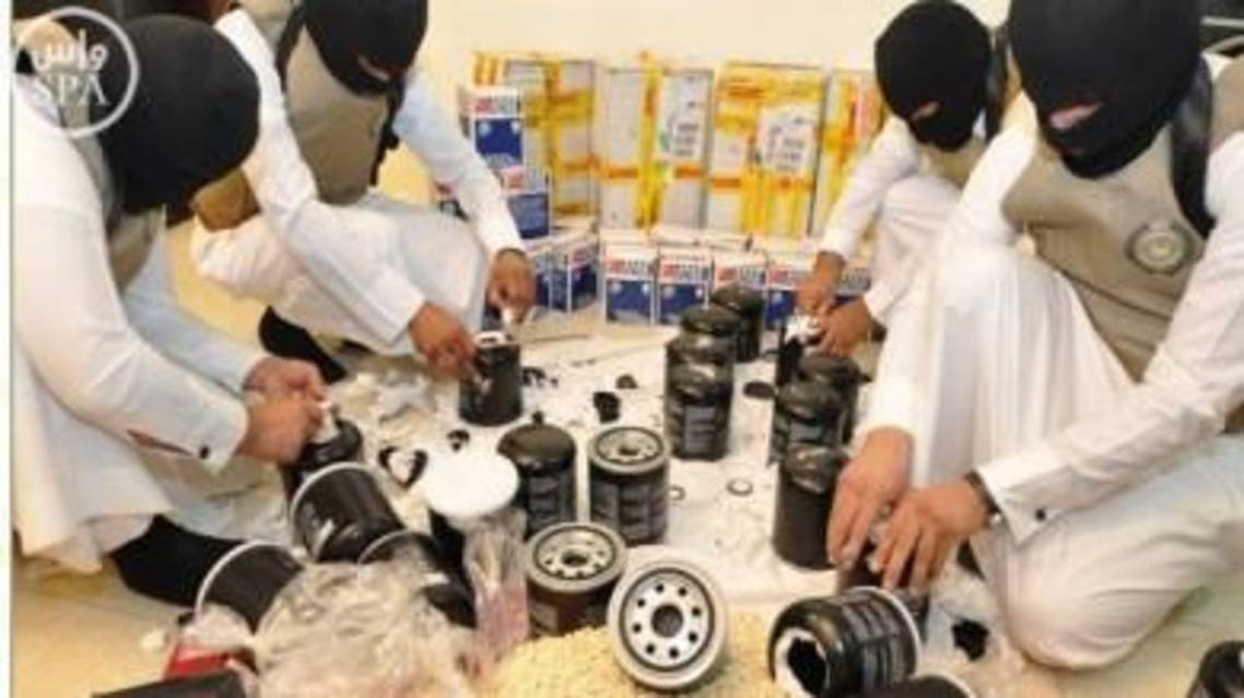 In their campaign against drug-trafficking, Saudi authorities have also confiscated hundreds of weapons, including 184 machineguns. (Photo: SPA)