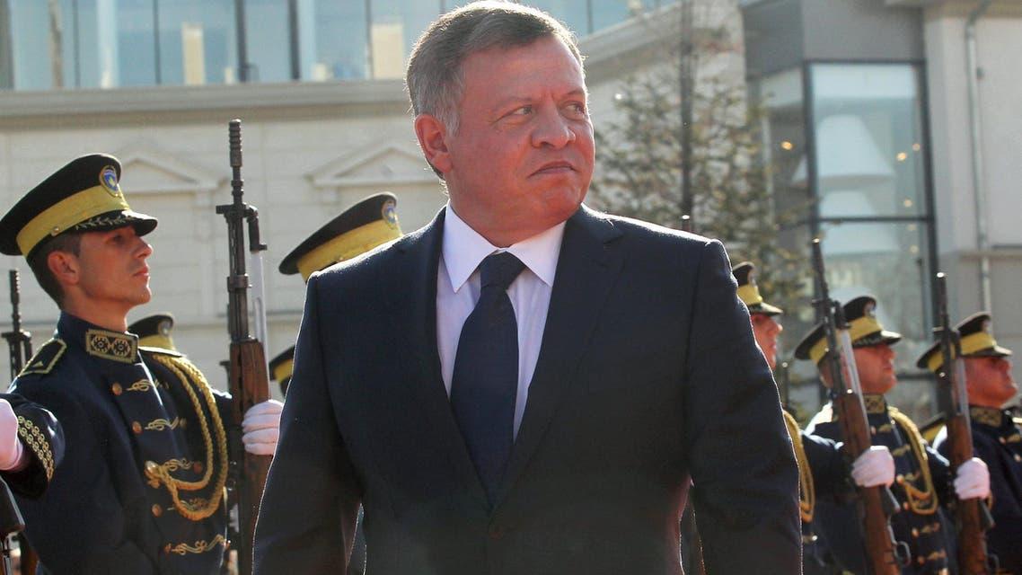 Jordan's King Abdullah inspects the honour guard in Pristina, Kosovo November 17, 2015.  (Reuters)