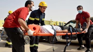 إخلاء مرضى وحالات اختناق في حريق ببرج الدمام الطبي