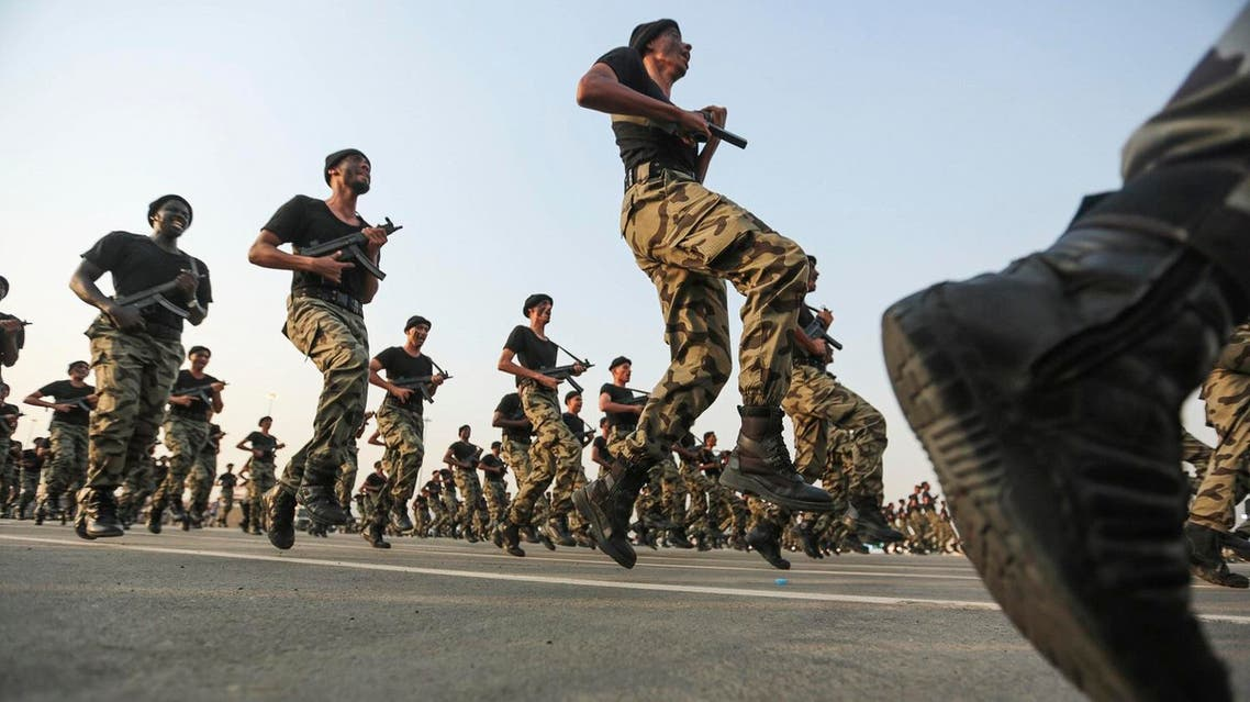 Saudi security forces take part in a military parade in preparation for the annual Hajj pilgrimage. (File photo: AP)