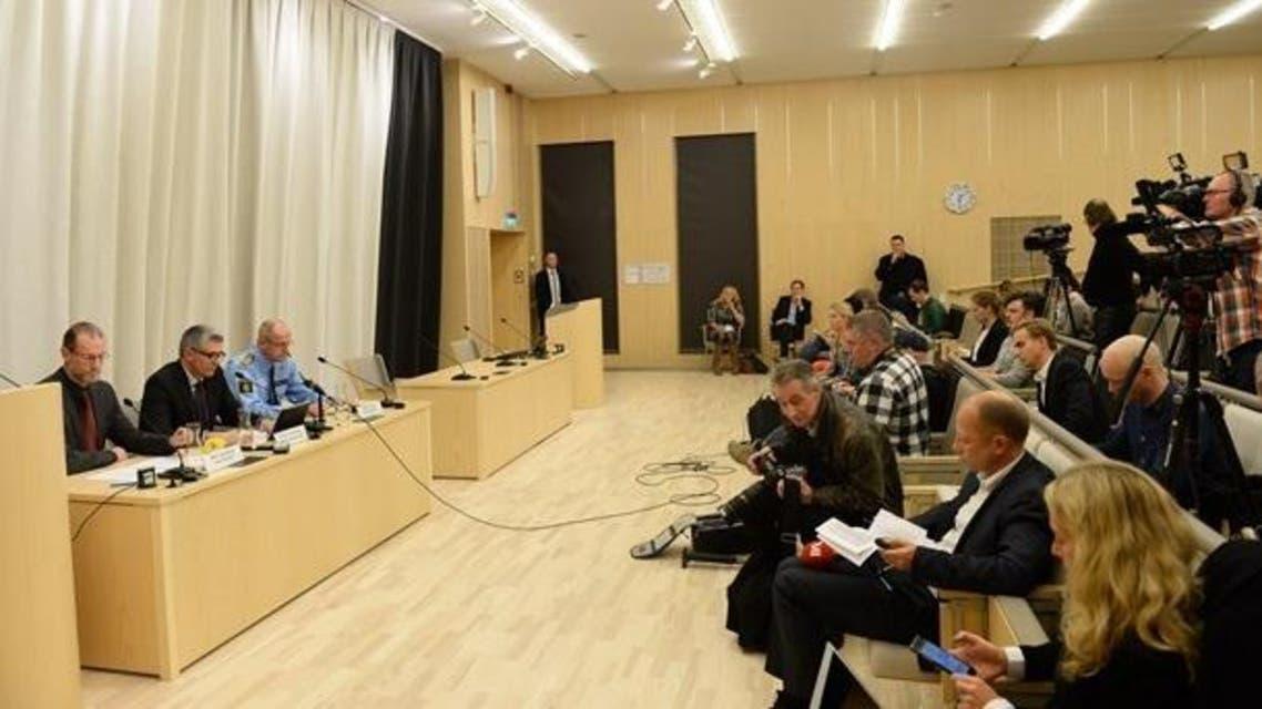 المؤتمر الصحفي الذي عقدته الشرطة والاستخبارات السويدية