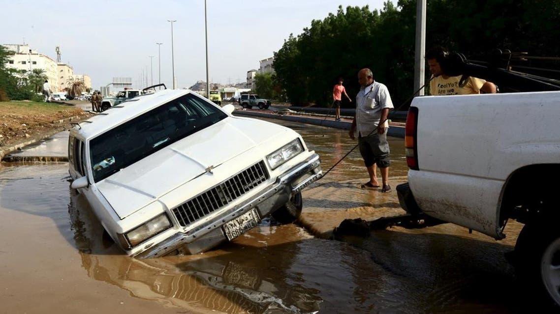 Jeddah Flooding, Rain   AP