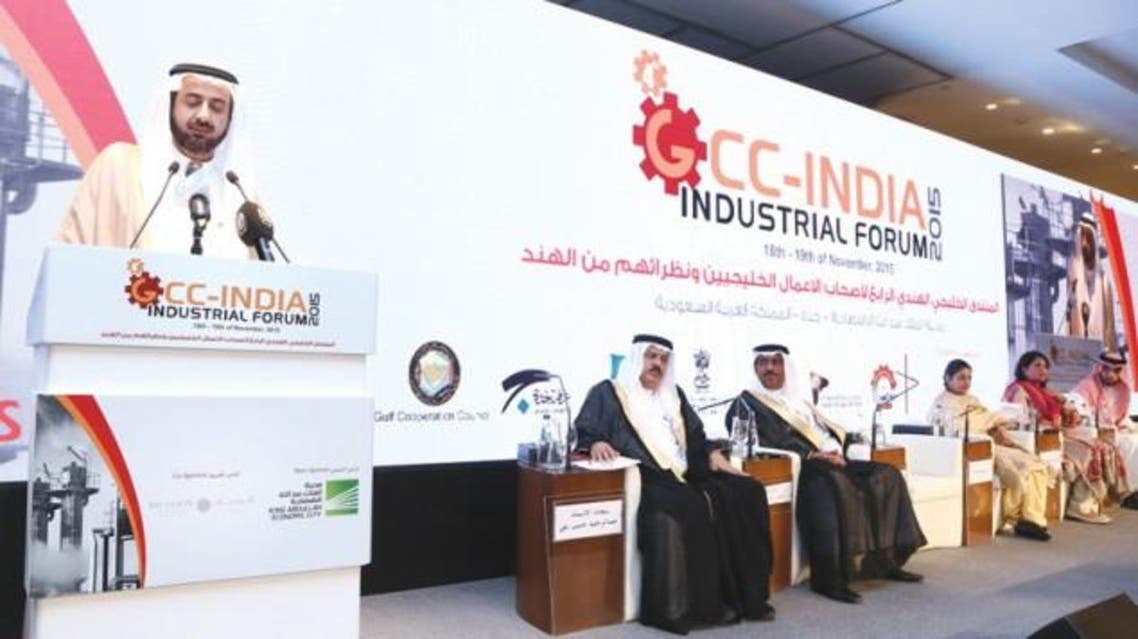 Minister of Commerce and Industry Tawfiq Al-Rabiah inaugurates the 4thGCC-India Industrial Forum at Bay La Sun Hotel, King Abdullah Economic City in Rabigh on Wednesday.