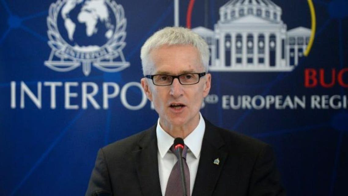 """Interpol Secretary General Juergen Stock, pictured on May 19, 2015, said """"the organisation currently holds records of some 5,800 suspected foreign terrorist fighters contributed by more than 50 countries"""" afp"""