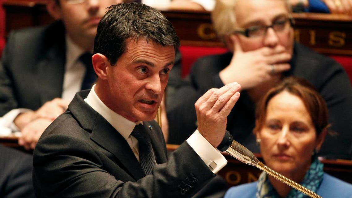 French Prime Minister Manuel Valls attends the questions to the government session at the National Assembly in Paris, France. (Reuters)
