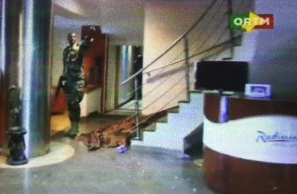 Still image from video shows the lobby of the Radisson hotel in Bamako, Mali, November 20, 2015. (Reuters)
