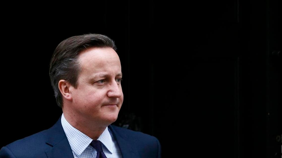 Britain's Prime Minister David Cameron waits to greet his Slovenian counterpart Miro Cerar at Number 10 Downing Street in London, Britain November 19, 2015. REUTERS/Stefan Wermuth