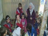 لبنان.. لاجئة #سورية تحول خيمتها إلى مدرسة