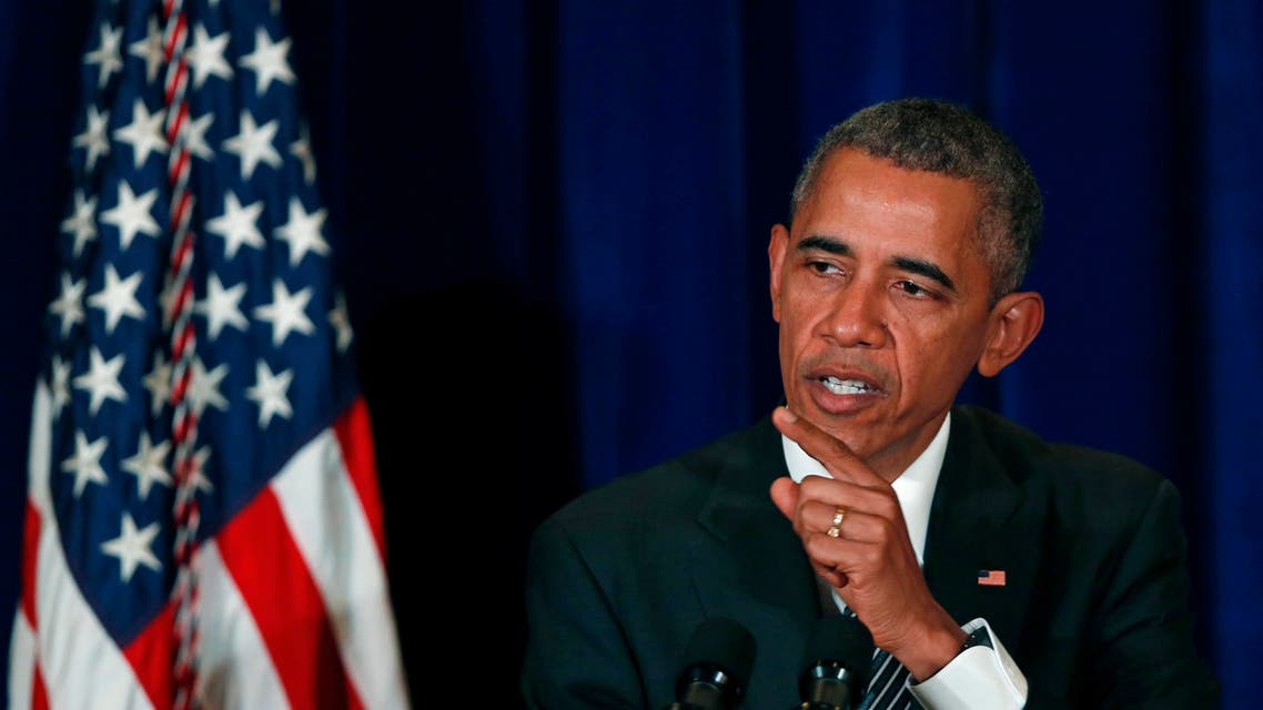 U.S. President Barack Obama speaks during a press conference in Kuala Lumpur, Malaysia, Sunday, Nov. 22, 2015. In Southeast Asia, Obama has taken a softer tone on human rights and corruption in a part of the world that rights groups claim is rife with abuses. (AP Photo/Lai Seng Sin)