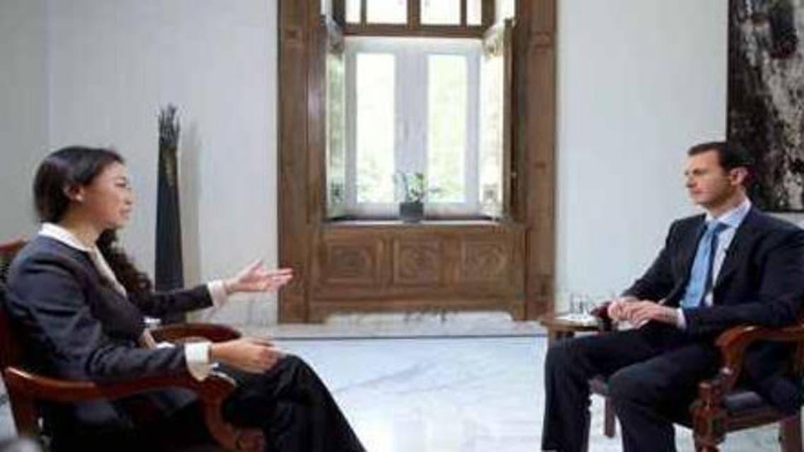 """الأسد في حواره مع تلفزيون """"فينيكس"""" الصيني"""