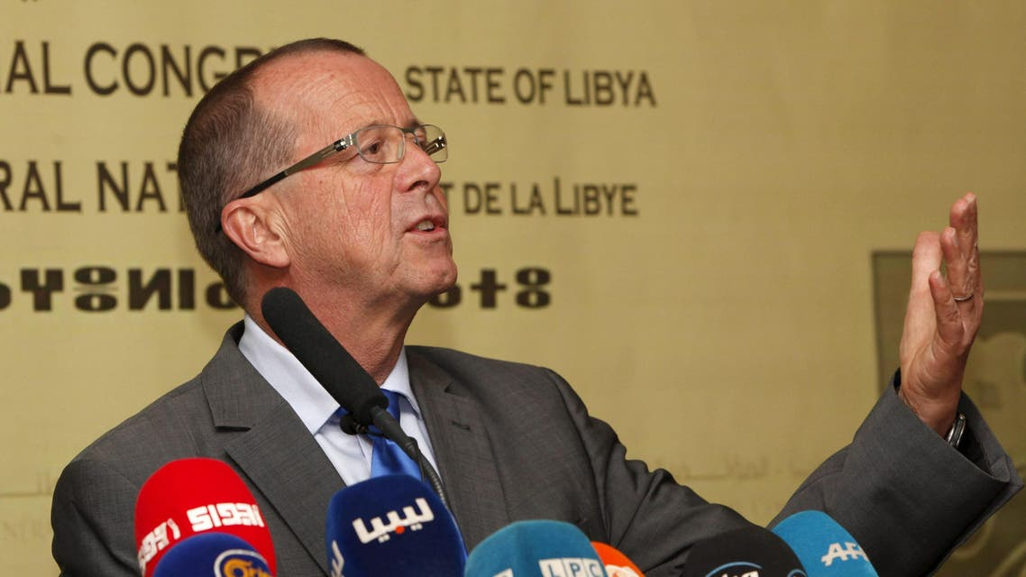 United Nations Special Representative and Head of the UN Support Mission in Libya, Martin Kobler speaks during a news conference in Tripoli Nov. 22, 2015. (Reuters)
