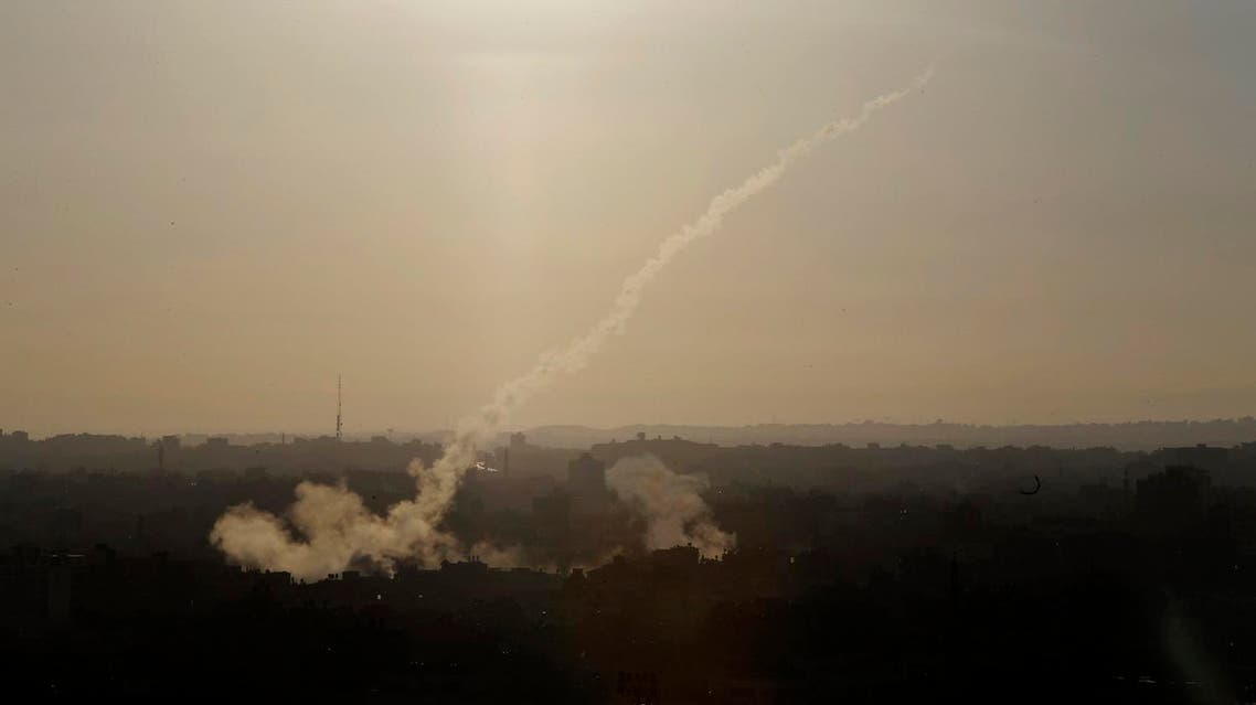 FILE - In this Aug. 9, 2014 file photo, a rocket is fired from Gaza City towards Israel. (File photo: AP)