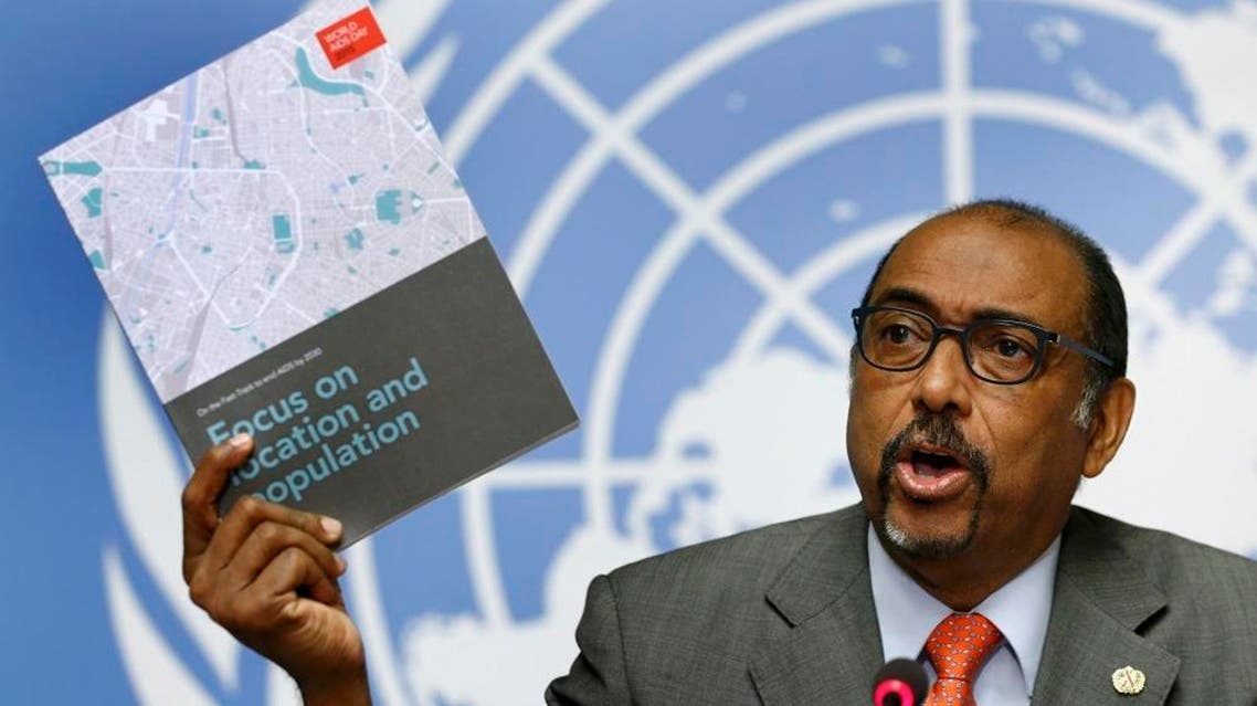 Michel Sidibe, Executive Director of UNAIDS addresses a news conference on the release of a new report to get countries on the Fast-Track to end the AIDS epidemic by 2030 a the United Nations European headquarters in Geneva, Switzerland, November 24, 2015   Reuters