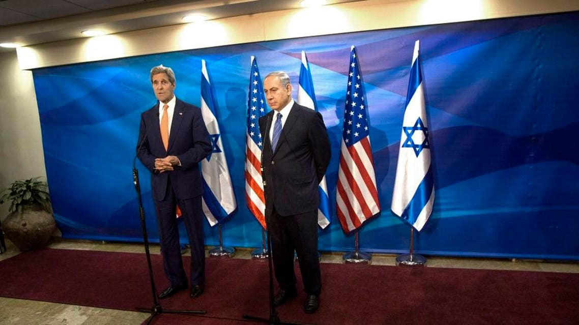 Israel's Prime Minister Benjamin Netanyahu, right, and US Secretary of State John Kerry hold a meeting at the Prime Minister's Office, in Jerusalem, Tuesday, Nov. 24, 2015. | AP