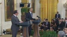 ''ہم سب فرانسیسی ہیں'':اوباما کا اولاند سے اظہار یک جہتی