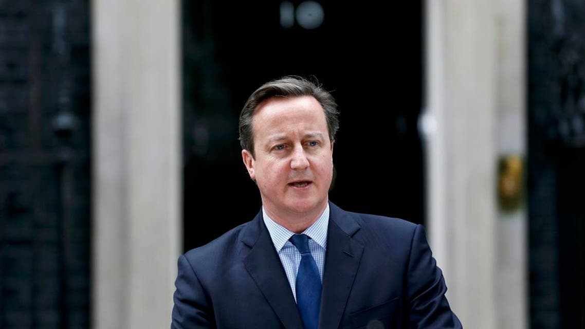 Britain's Prime Minister David Cameron gives a statement to the press. (File photo: Reuters)
