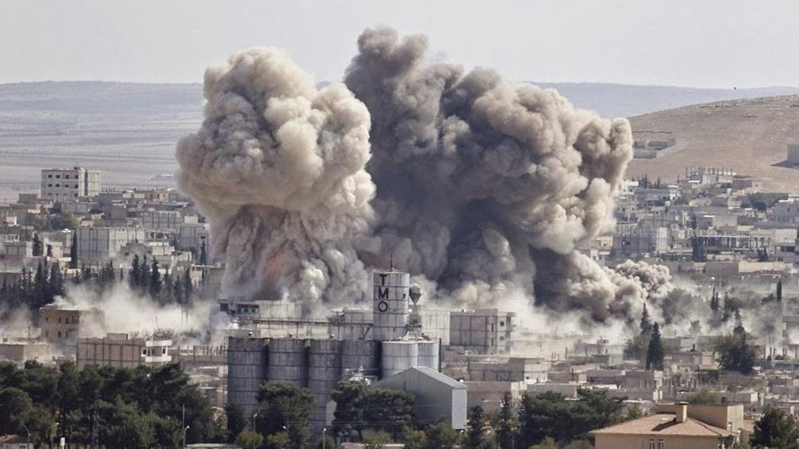 Smoke rises after an U.S.-led air strike in the Syrian town of Kobani Ocotber 8, 2014. (File photo: Reuters)