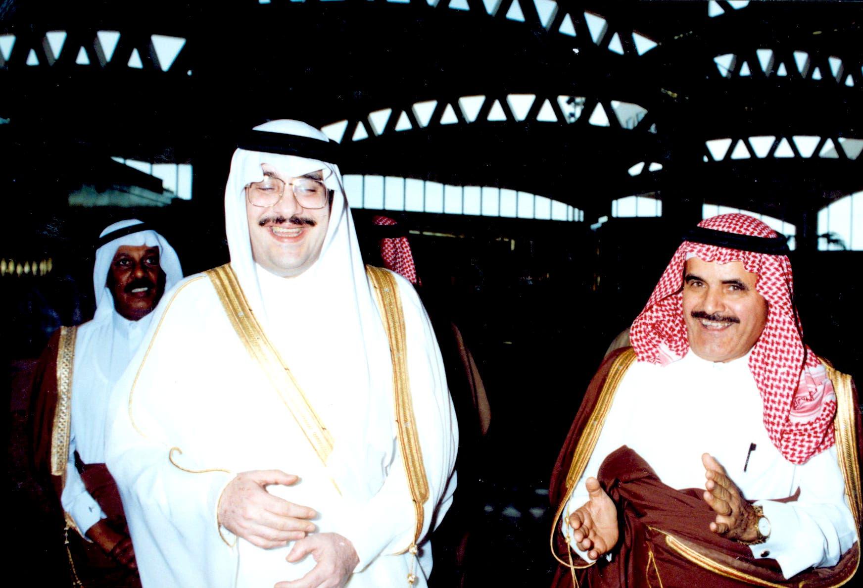 السديري مع الأمير فيصل بن فهد