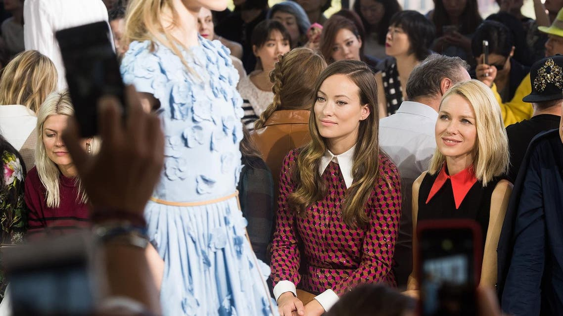 Naomi Watts, right, and Olivia Wilde attend the Michael Kors Spring/Summer 2016 show during Fashion Week. (File photo: AP)