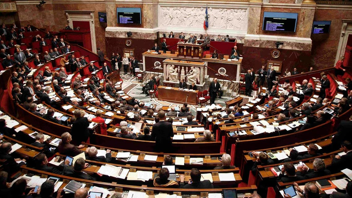 General view of the National Assembly during a debate to extend a state of emergency, in Paris. (Reuters)