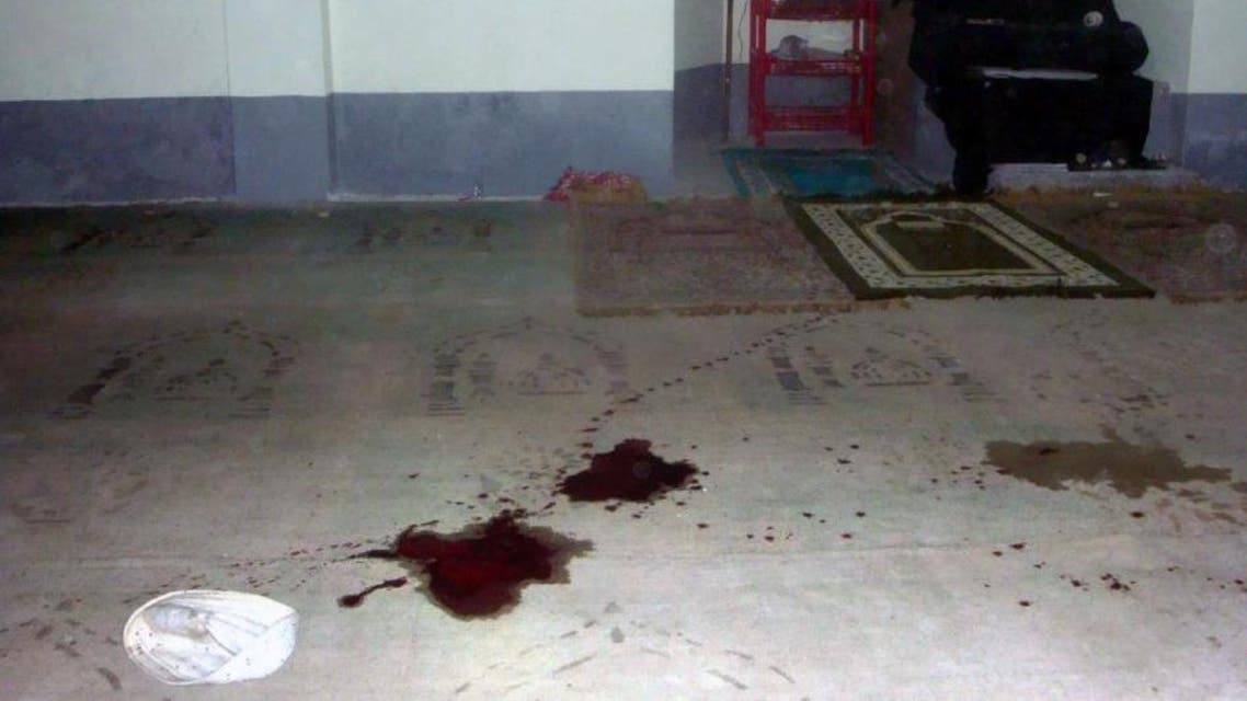 Blood stains are seen on the floor of a Shiite mosque after a shooting in Shibganj, northern Bangladesh, some 125 km from the capital Dhaka. (AFP)