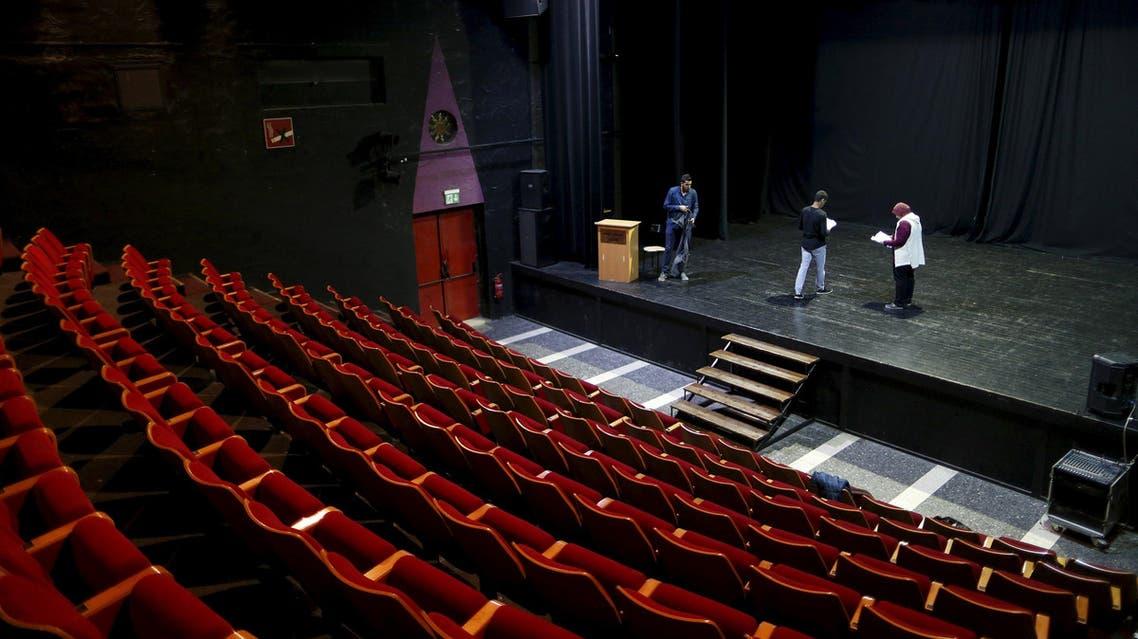 "Actors rehearse at the Palestinian National Theatre, known as ""Al Hakawati"" (The Storyteller), in the predominantly Arab neighbourhood of Sheikh Jarrah in East Jerusalem November 27, 2015"