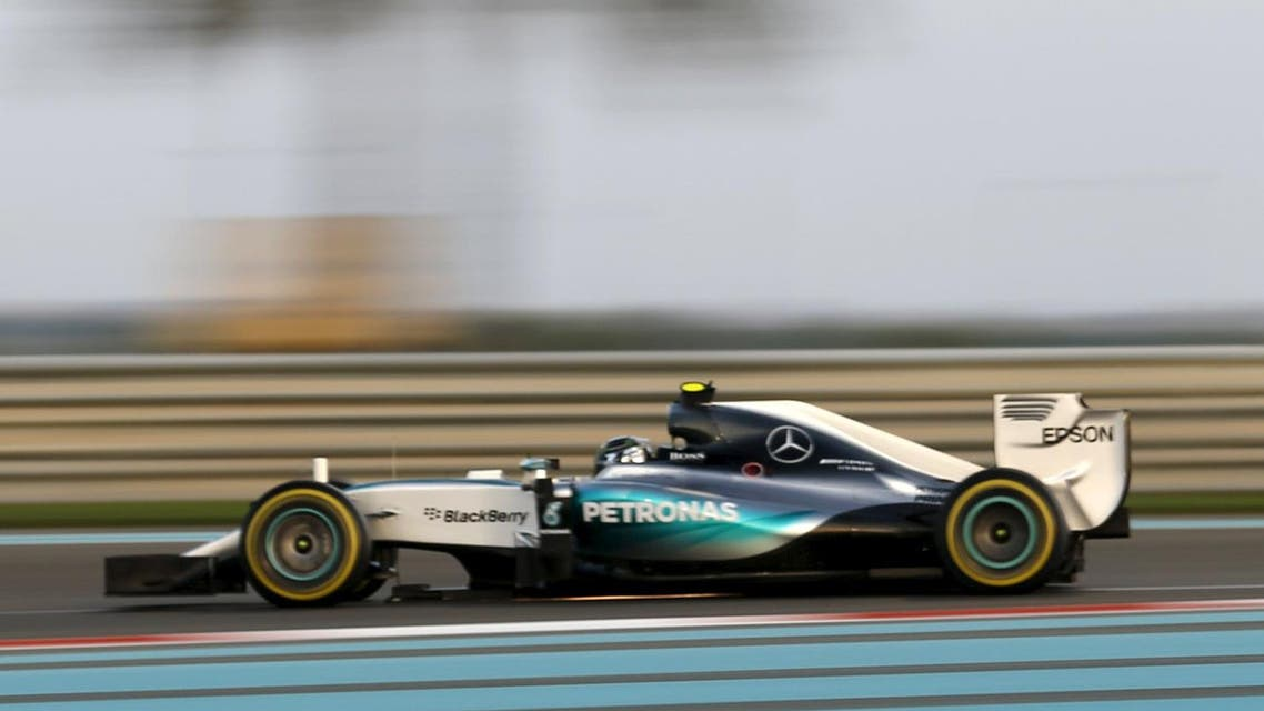 Mercedes Formula One Driver Nico Rosberg of Germany drives during the second free practice session of Abu Dhabi F1 Grand Prix at the Yas Marina circuit in Abu Dhabi
